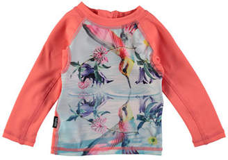 Molo Nemo Hummingbird Long-Sleeve Rash Guard, Size 3-24 Months