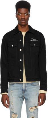 Amiri Black Lovers Trucker Jacket