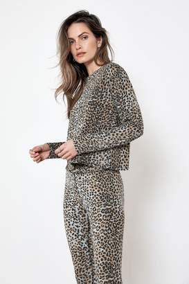 Rag Doll Ragdoll LONG SLEEVE TEE Blue Leopard