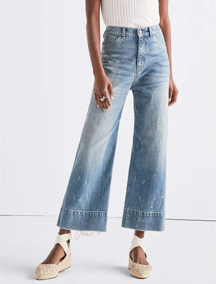 Lucky Brand WIDE LEG DENIM CROP TROUSER IN SEA LANE