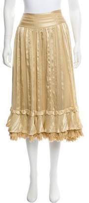 Ralph Lauren Silk Midi Skirt
