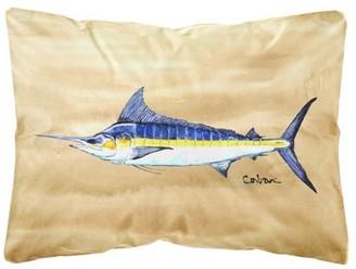 Sword Fish Caroline's Treasures Swordfish on Sandy Beach Canvas Fabric Decorative Pillow