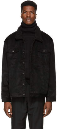 Naked & Famous Denim Denim Black Corduroy Sherpa Oversized Jacket