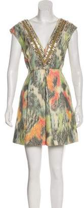 Matthew Williamson Embellished Mini Dress w/ Tags