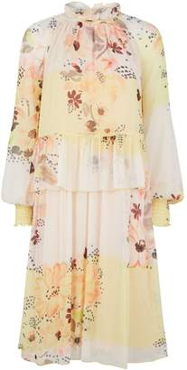 See by Chloe Waterflowers Georgette Midi Dress