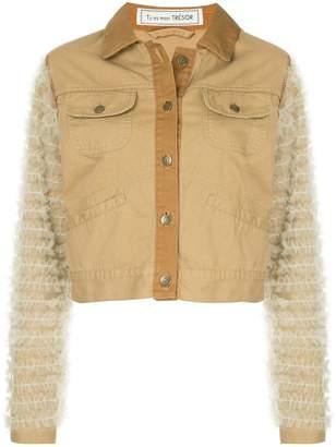 Tu Es Mon Trésor tulle-embellished jacket