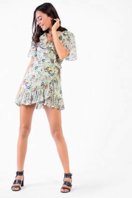 Glamorous **Ditsy Wrap Tea Dress by Petites