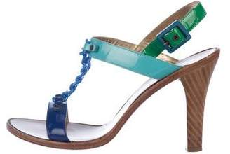 Marc Jacobs Embellished T-Strap Sandals