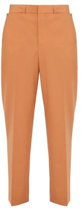 Burberry Tumbled Wool Wide Leg Trousers - Mens - Orange