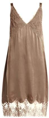 Icons Art Marigold Silk Slip Dress - Womens - Brown