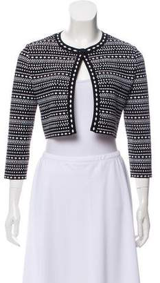 Alaia Patterned Cropped Shrug