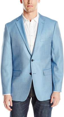Vince Camuto Men's Two Button Modern Fit Pindot Blazer