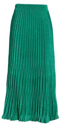 Maje Jupette Pleated Midi Skirt