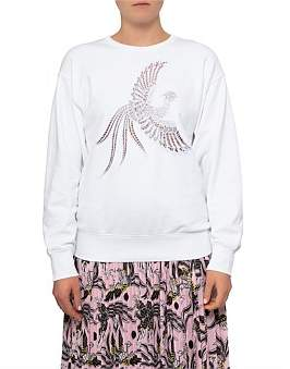 Kenzo Diagonal Cotton Molleton Emb Bird Sweat Shirt
