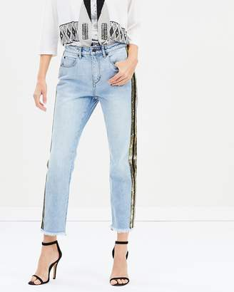 On The Rocks Sequin Jeans