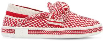 20mm Woven Cotton Slip-On Sneakers