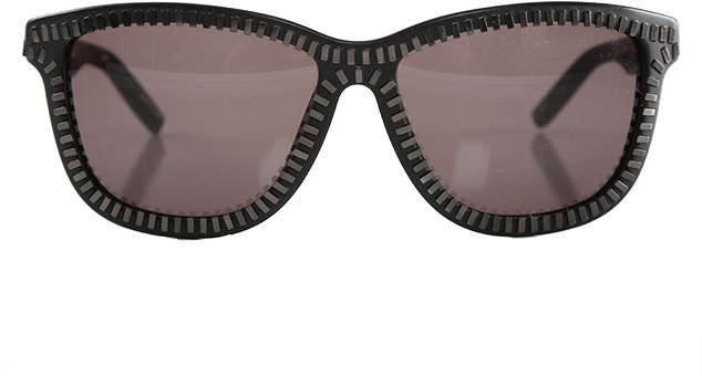 linda farrow x alexander wang Alexander Wang Black & Nickel Zipper Frame Sunglasses