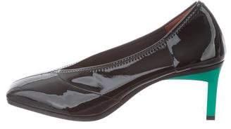 3.1 Phillip Lim Patent Leather Square-Toe Pumps