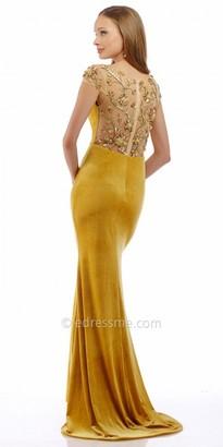 Nika Beaded Velvet Evening Dress $458 thestylecure.com