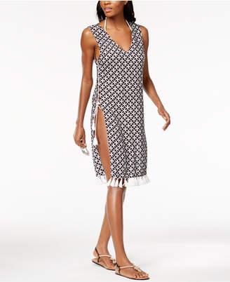 Michael Kors MICHAEL Lace-Up Midi Cover-Up Dress