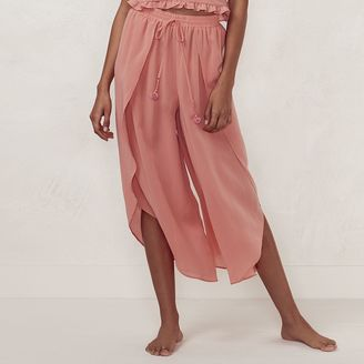 Women's LC Lauren Conrad Beach Shop Envelope-Hem Capri Pants $54 thestylecure.com