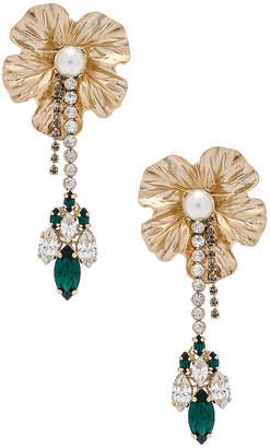 Anton Heunis Dangly Flower With Pendant Earrings
