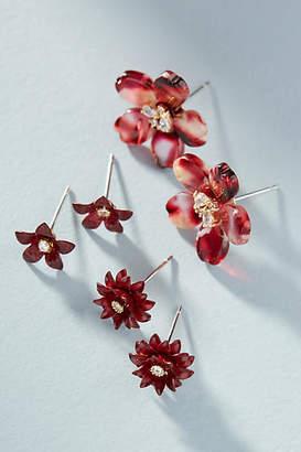 Anthropologie Blossom Earring Set