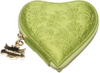 Christian Lacroix Green Silk Purses, wallets & cases