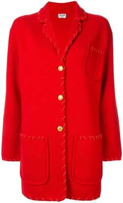Celine Pre-Owned contrast stitch jacket