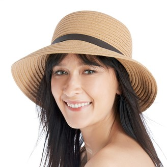 Straw Bucket Hat with Faux Leather Band $29.95 thestylecure.com