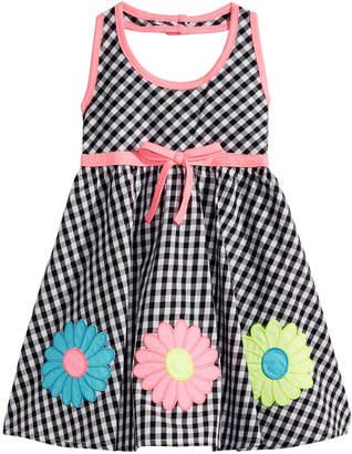 Blueberi Boulevard Baby Girls Check-Print Cotton Sundress