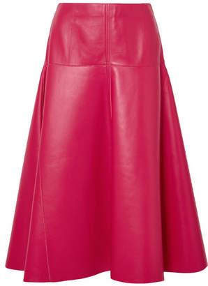 Fendi Leather Midi Skirt - Pink