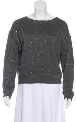 Alice + Olivia Embellished Jersey Sweatshirt