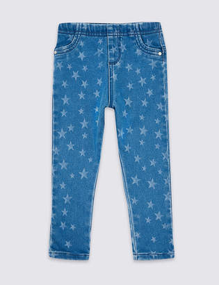 Marks and Spencer Star Print Jeggings (3 Months - 7 Years)
