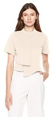 Painted Heart Women's Stand Collar Matte Jersey Shirt Blouse
