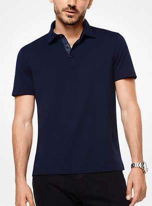 Michael Kors Bryant Stretch-Cotton Polo Shirt