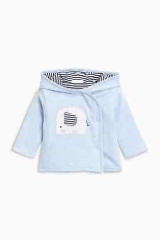 Boys Blue Elephant Jersey Jacket (0mths-2yrs) - Blue