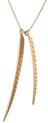 Me & Ro Me&Ro 10K Double Leaf Pendant Necklace