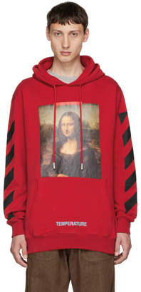 Off-White SSENSE Exclusive Red Monalisa Hoodie