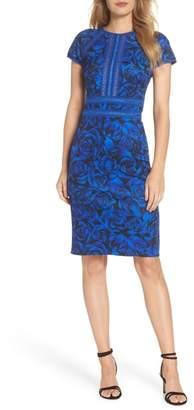 Tadashi Shoji Floral Print Body-Con Dress