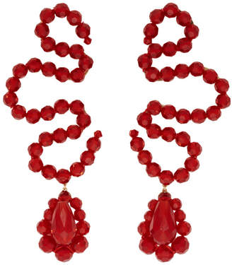 Simone Rocha Red Wiggle Earrings
