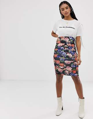 New Look Floral Two-Piece Skirt