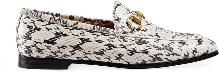 Gucci Jordaan snakeskin loafer
