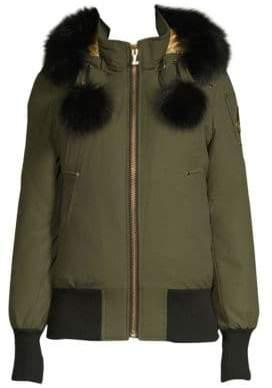 Moose Knuckles Goldboro Fox Fur Trimmed Bomber