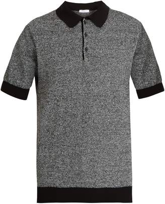 Boglioli Point-collar waffle-knit polo shirt