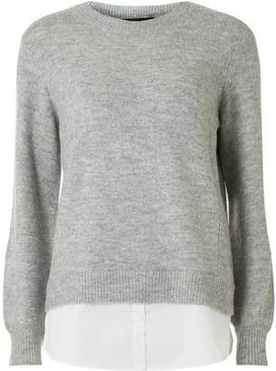Dorothy Perkins Womens Grey 2-In-1 Jumper