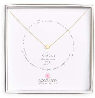 Dogeared Circle Pendant Necklace