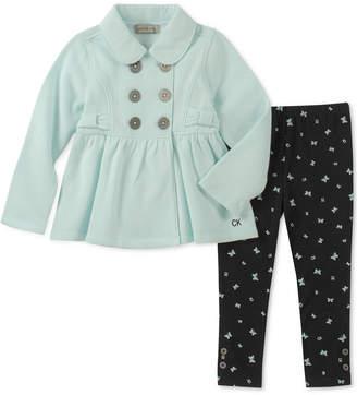 Calvin Klein Little Girls 2-Pc. Fleece Jacket & Leggings Set