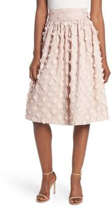 Eliza J Flower Texture Gathered Skirt