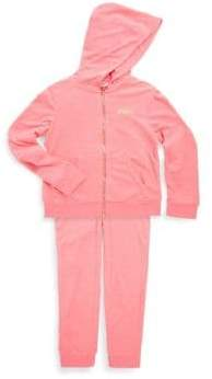 Juicy Couture Little Girl's Logo Tracksuit Two-Piece Set